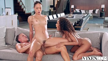 VIXEN Horny Babes Fuck In threesome