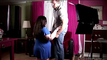 Busty fatty gives a blowjob gets screwed and a facial cumshot