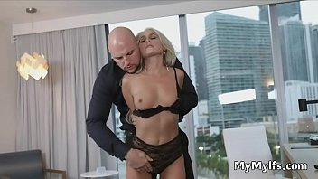 Playing rough with submissive MILF slut