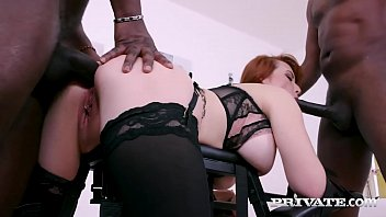 Hot Milky White Redhead MILF Isabella Lui has an amazing interracial threesome with dark dicking studs before getting double penetrated by 2 big black cocks! Full Flick & 1000s More at Private.com!