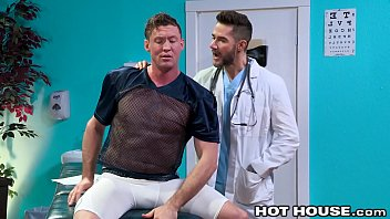 Big Cock J O Ck Hurt Himself Playing Football And His Dr. Takes His Cock Up His Anal