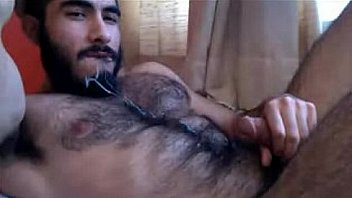Beefy Hairy Man Cums into his Mouth