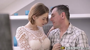Thick 19yo girl has sex with a grandpa
