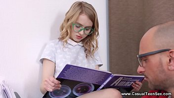 Casual Teen Sex - She can just feel knowledge pour inside of her with every penetration