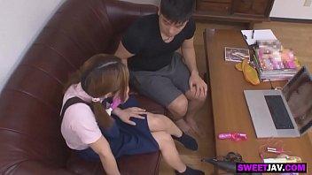 having fun with an asian teen girl