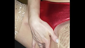 Watch Red satin bikini panty play preview
