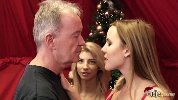 Watch Grandpa fucks teens on christmas and the girls love cum swallowing after sex preview