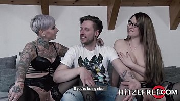 two curvy german babes take turns fucking a lucky guy