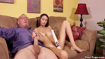 Natalia Nix wants to masturbate in private. But her nosy step dad comes sneaking in filming her. He promises to not tell mom, but he wants in on some of the action too,so she reluctantly agrees to jerk his cock in exchange for his silence.