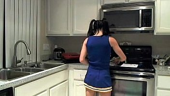 Cam Slut Cleo Dresses Up as a Cheerleader and Gets Off!