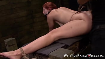 Stunning redhead BDSM analled and facial