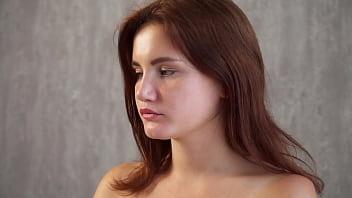 First time horny innocent girl Galinka on camera naked