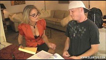 Horny Teacher Jerks Off Her Student