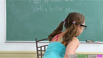 InnocentHigh Nerd smalltits teen Remy Lacroix fucks teacher