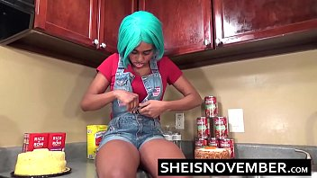 HD Ebony Step Sister Female Orgasm And Missionary Position On Counter Top, Msnovember Gothic Vagina Penetrated By BBC By Aggressive Step Brother Deep Inside Her Body AFter Blowjob on Sheisnovember
