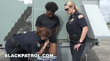 BLACKPATROL - Police Women With Big Tits and Big Ass Getting Some Big Black COCK