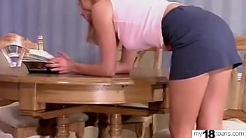 Hot Schoolgirl Sensual Masrurbate Pussy after Lessons - Solo