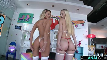 Ass to mouth fun with two smoking hot blondes