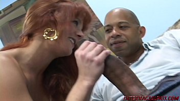 Hot engaged redhead Gabriella Banks goes interracial cheating with monster black cock