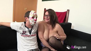 MILF gets drilled, her husband can only watch!!
