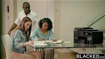 BLACKED Petite Riley Reid Tries Huge Black Cock In Her Ass