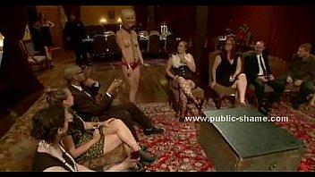 Blonde slut serving dinner naked sex