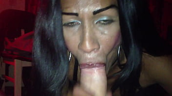Tranny Girlfriend Make Him Cum Twice In Her Mouth