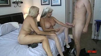 Creampie for Mommy as Young son takes turns fucking his Mommy and Auntie #HUGE #White-Cock