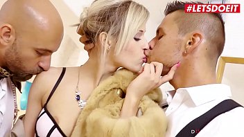 LETSDOEIT - Lovely European Blondie Ria Sun Gets Amazing DP From Horny Designers Thumbnail