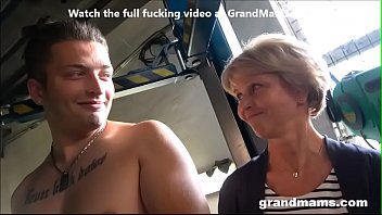 Grandmam gets fucked and gets a big load
