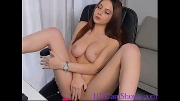 Solo blonde girl playing with her vagina live on the camera in HD at HDCamShows.com