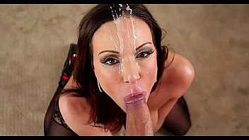 Hot milf enjoys a facial cum shower