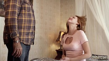 Super hot teen is fucked hardcore by an old man and takes facial cumshot