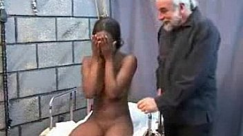 sexy black girl force fucked by old fat man