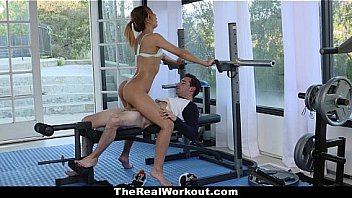 The Real Workout - Sexy Latina (Demi Lopez) Ride and Fucked Big Cock