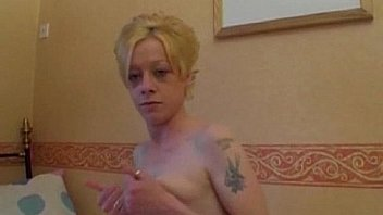 Filthy Skinny Blonde Chav Slag ready for sex