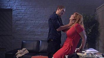 Dude anal bangs actress in rope bondage