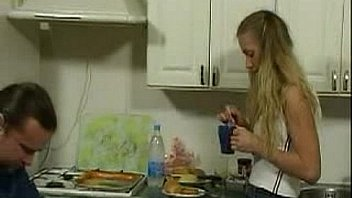 BritishTeen Daughter seduce father in Kitchen for sex