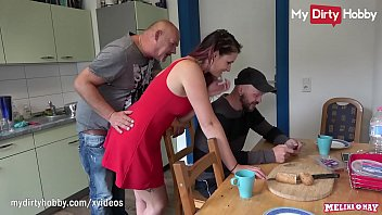 Cheating German amateur redhead teenlets an older guy fuck her young tight pussy while she has a conversation with her boyfriend and he does not even realize