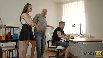 DADDY4K. Grey-haired old dad makes love to tender young angelface