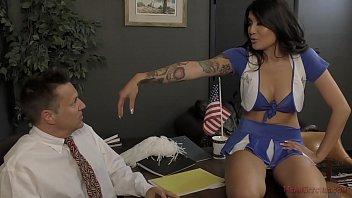 Bratty Cheerleader Makes The Principal Kiss Her Ass Thumbnail