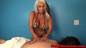 Real milf tugging cock in pov scene