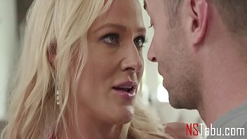 Hot Blonde MILF Stepmom Sets Her Eyes On Her Young Stepson