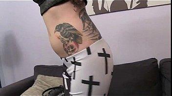 Busty tattooed blonde Nicole Malice fuck and blowjob in POV