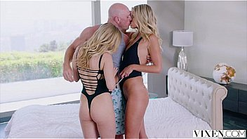 VIXEN Two sexy blondes cheat With a Threesome