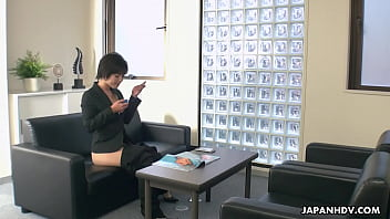 Insatiable office lady who always has a mini vibrator in the purse, Hasumi is using an opportunity to slowly make herself cum during the lunch break, while no one is watching her in action.