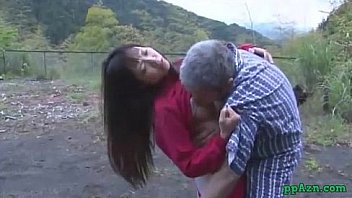 Asian Girl Getting Her Pussy Licked And Fucked By Old Man Cum To Ass Outdoor At thumbnail