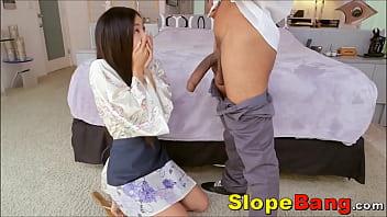 Tiny Asian Ass Rammed By Huge Dark Dick