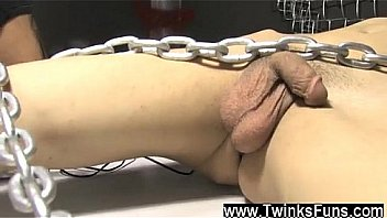 Roxy red wakes up trussed to chains