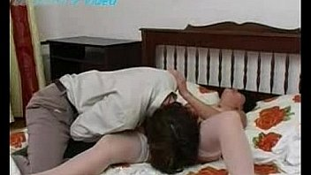 Petite woman having sex with young boy